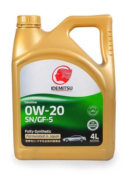 Моторное масло IDEMITSU Gasoline 0W20 SN/GF-5