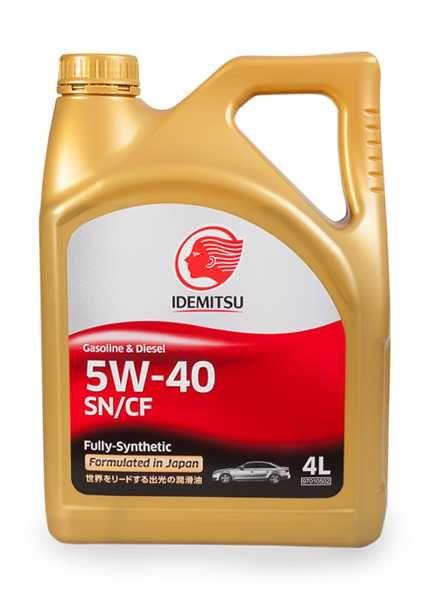 Моторное масло IDEMITSU Gasoline & Diesel 5W40 SN/CF